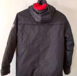 Weatherproof Black Puffer Hooded Jacket
